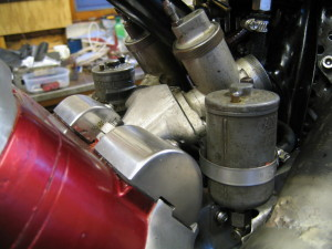 previous engine with twin carb minifold fitted