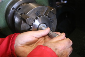 measuring for the new drive sprocket