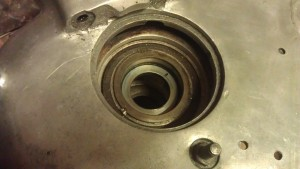 Scott main bearing bearing 'cup' in engine.