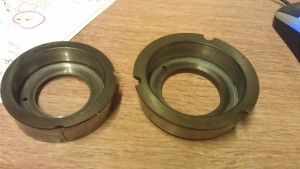 Two variations of Scott main bearing cup